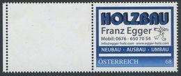 ÖSTERREICH / 8124826 / Holzbau Franz Egger / Postfrisch / ** / MNH - Personalisierte Briefmarken