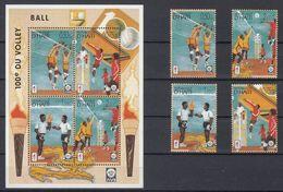 HAITI 1996 - VOLLEY BALL S-S And Set Série Et Bloc Feuillet - Haïti