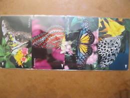"""Serie De Télécarte De Singapour """" Papillons """" - Singapore"""