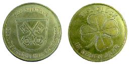 01348 GETTONE JETON TOKEN FICHA REGENSURG HAPPY NEW YEAR TOKEN VIEL GLUCK IM NEUEN JAHRE - Unclassified