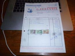 FF5 Document Commercial   Facture Imprimerie G De Muynck Fontaine L'Evêque - 1950 - ...