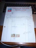 FF5 Document Commercial   Facture Garage JM Denamur Concessionnaire Simca Fontaine L'Evêque - 1950 - ...