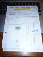 FF5 Document Commercial   Facture Ets Vitrages Franz Philippe Fontaine L'Evêque - 1950 - ...