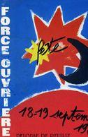 POLITIQUE  L 4  /  SYNDICAT  FO 1981  CPM / CPSM 10 X 15 - Syndicats