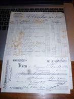 FF5 Document Commercial  A Christiaens Ainé Drogueries Produits Chimiques Avec Reçu Bruxelles 1917 - 1900 – 1949