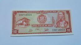 PERU' 10 SOLES ORO 1975 - Perù