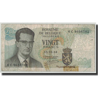 Billet, Belgique, 20 Francs, 1964, 1964-06-15, KM:138, B - [ 6] Treasury