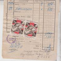 Erinnofilia Croce Rossa Italianalire 5 Su Esattoria Di Lanuvio Roma 1950 - Erinofilia