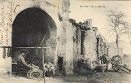 CORSE - AJACCIO - Dans Les Ruines Des Vieux Remparts, échoppe De Petit Métier (forge, Cordes, Filets ...) - 1910 - Ajaccio