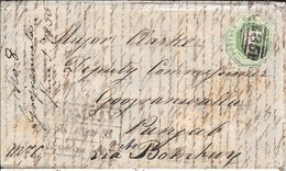 WHITESTONE DEVON ENVELOPPE CIRCULEE TO BOMBAY PUNJAB INDIA YEAR 1855 FULL CONTENT INSIDE SUPERBE - Cartas