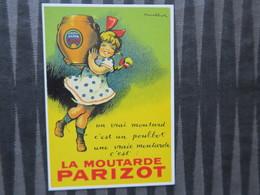 TI - CARTE PUBLICITAIRE - REPRODUCTION D'AFFICHE  - La Moutarde Parizot - Publicidad