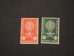 SIERRA LEONE - 1962 MALARIA/SERPENTE 2 VALORI - NUOVO(++) - Sierra Leone (1961-...)
