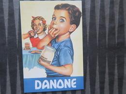 TI - CARTE PUBLICITAIRE - REPRODUCTION D'AFFICHE  - DANONE - Reclame