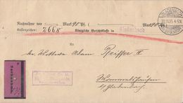 DR NN-Brief Gladenbach 20.11.05 Ankunftsst. KOS Weidenhausen (Kr. Biedenkopf) 21.11.05 - Deutschland