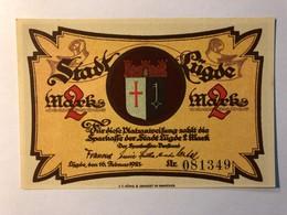 Allemagne Notgeld Lugde 2 Mark - [ 3] 1918-1933 : Weimar Republic