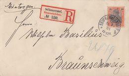 DR R-Brief EF Minr.59 Seifhennersdorf 31.1.01 Gel. Nach Braunschweig - Deutschland