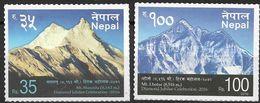 2016  Nepal    **MNH  MOUNTAINS - Nepal