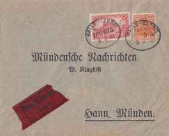 DR Brief-Drucksache-Eilbote Mif Minr.A113,141 Bpst. Halle-Cassel Zug 575 8.11.20 Seltene Portostufe !!!!!!!!!! - Allemagne