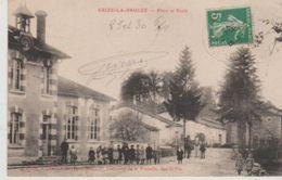 Meuse ERIZE LA BRULEE Place Et école - France