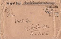 DR Wertbrief über 2 Billiarden Gebühr Bezahlt Aurich 14.11.23 Gel. Nach Heidelberg - Deutschland