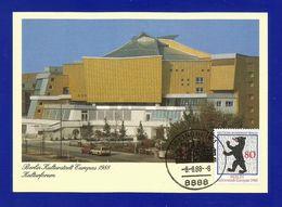 Berlin 1988  Mi.Nr. 800 , Berlin - EUROPA CEPT Sympathie Mitläufer - Maximum Karte - Sonder Stempel BLINDHEIM 8.-8.1988 - Europa-CEPT