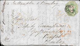WHITESTONE DEVON ENVELOPPE CIRCULEE TO BOMBAY PUNJAB INDIA YEAR 1854 FULL CONTENT INSIDE SUPERBE - Briefe U. Dokumente
