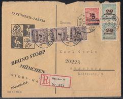 DR R-Brief Mif Minr.3x 325A,2x 329A,334 München 27.11.23 - Deutschland