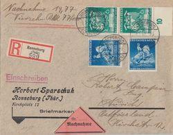 DR R-NN-Brief Mif Minr.2x 769,2x 771 Ronneburg 2.1.42 - Deutschland