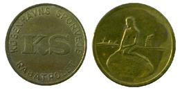 00409 GETTONE TOKEN JETON DENMARK TRASPORTI TRANSIT TRAMWAYS COPENAGHEN 1966.1967 - Tokens & Medals