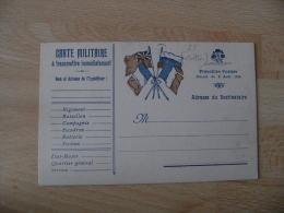Carton Carton  Epais  Carte Militaire 4 Drapeau Franchise - Marcophilie (Lettres)