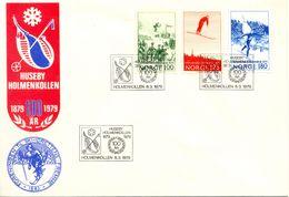 Centº Des Concours De Ski FDC Norvege 1979 Yvert 746/8 - Ski
