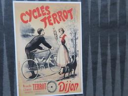 TI - CARTE PUBLICITAIRE - REPRODUCTION D'AFFICHE  - LCYCLE TERROT  - DIJON - Publicidad
