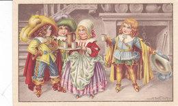 CARD BERTIGLIA TRE MOSCHETTIERI LOCANDIERA OFFRE BICCHIERE VINO -FP-N-2-0882-27872 - Bertiglia, A.