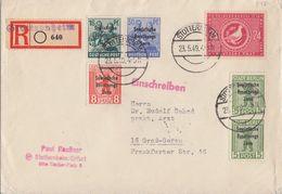 SBZ R-Brief Mif Minr.188,194,2x 200,202,232 Stotternheim 23.5.49 - Sowjetische Zone (SBZ)