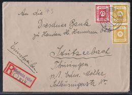 SBZ R-Brief Mif Minr.46A,2x 47A Sebnitz 23.10.45 - Sowjetische Zone (SBZ)