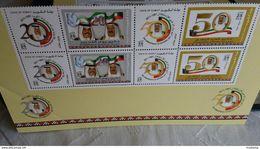 2 SET KUWAIT NATIONAL DAY , Sheikh Sabah Al-Sabah Emir Of Kuwait  COMPLETE SET , FLAG, BIRD. - Kuwait