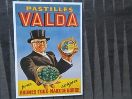 TI - CARTE PUBLICITAIRE - REPRODUCTION D'AFFICHE  - PASTILLES VALDA - Reclame