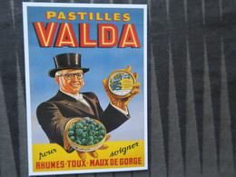 TI - CARTE PUBLICITAIRE - REPRODUCTION D'AFFICHE  - PASTILLES VALDA - Advertising