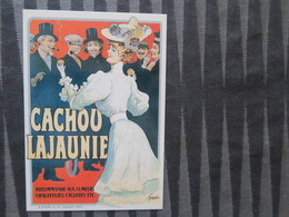 TI - CARTE PUBLICITAIRE - REPRODUCTION D'AFFICHE  - CACHOU LAJAUNIE - Publicité