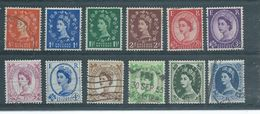 GRANDE-BRETAGNE  Yvert  N° 262 à 271 Et N° 273-278  Oblitérés - 1952-.... (Elisabeth II.)
