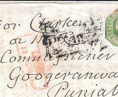 WHITESTONE DEVON ENVELOPPE CIRCULEE TO BOMBAY PUNJAB INDIA YEAR 1853 FULL CONTENT INSIDE SUPERBE - Briefe U. Dokumente