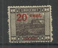 SAAR 1921 - VIEWS - OVEPRINTED - MINT NEUF NUEVO - Ungebraucht