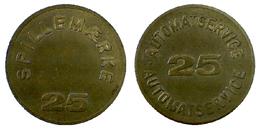 05000 GETTONE TOKEN JETON DENMARK PLAY MACHINE SPILLEMARKE 25 AUTOMATSERVICE 25 - Tokens & Medals