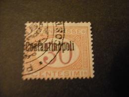 COSTANTINOPOLI - 1922, Segnatasse, Cent. 30 Usato. OCCASIONE - 11. Uffici Postali All'estero