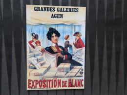 TI - CARTE PUBLICITAIRE - REPRODUCTION D'AFFICHE  - GRANDES GALERIES AGEN - Publicité