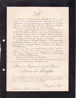 VAUBADON BALLEROY CALVADOS Raymond Prince De BROGLIE 89 Ans 1914 Famille REVEL D'OILLIAMSON Lettre Décès - Décès