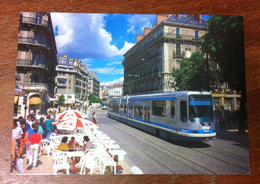 38 GRENOBLE TRAMWAY TRAIN RUE MOLIÈRE ET PLACE VICTOR HUGO CARTE POSTALE - Grenoble