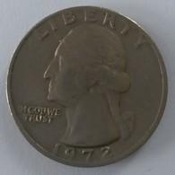 QUARTER  DOLLAR - 1972 - Washington - - Federal Issues