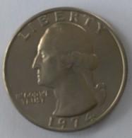 QUARTER  DOLLAR - 1974 - Washington - - 1932-1998: Washington