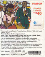 CARIBBEAN ISLANDS - People On Phone, Cable & Wireless Prepaid Card EC$40, CN : 1201, Used - Phonecards